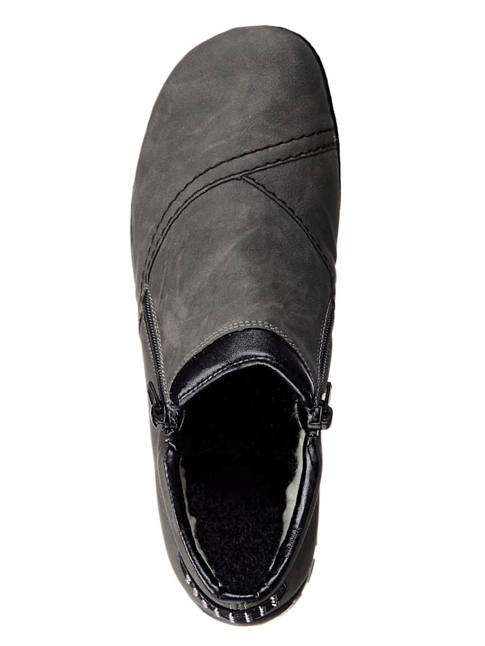 Rieker-skor med dubbla dragkedjor