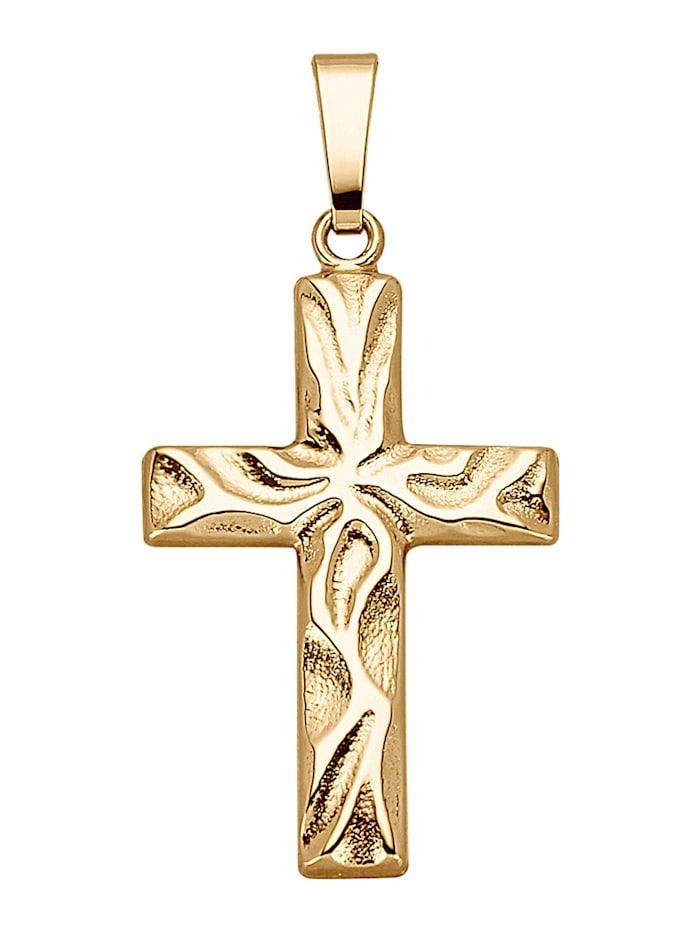Hänge – kors, Guldfärgad