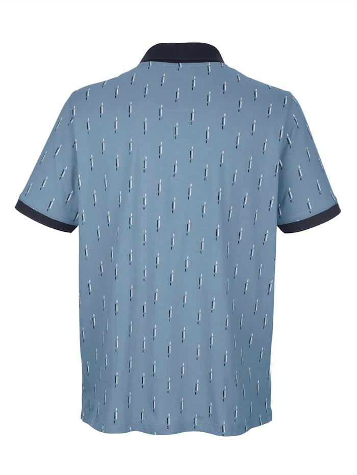 Poloshirt mit Druckmusterung
