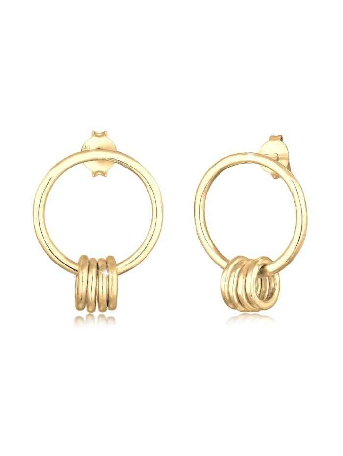 Elli Ohrringe Ohrhänger Kreis Geo Basic Minimal 925Er Silber, Gold