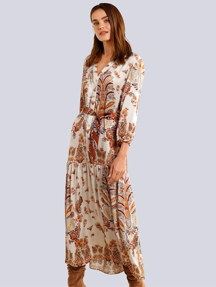 OUI Kleid im modischen Paisleydessin, Camel/Braun