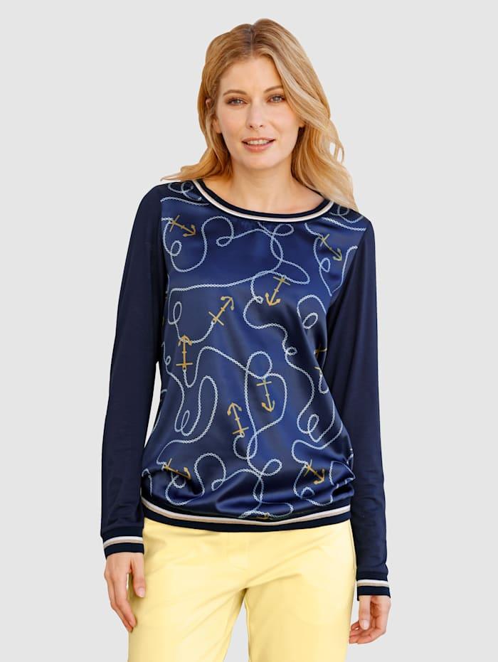 Laura Kent Shirt mit maritimem Print, Marineblau
