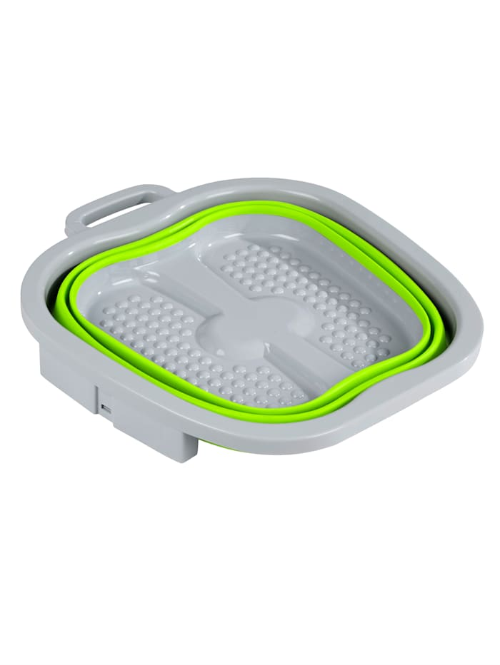 TRI Opvouwbaar voetbad voor verzorgde voeten, groen/grijs