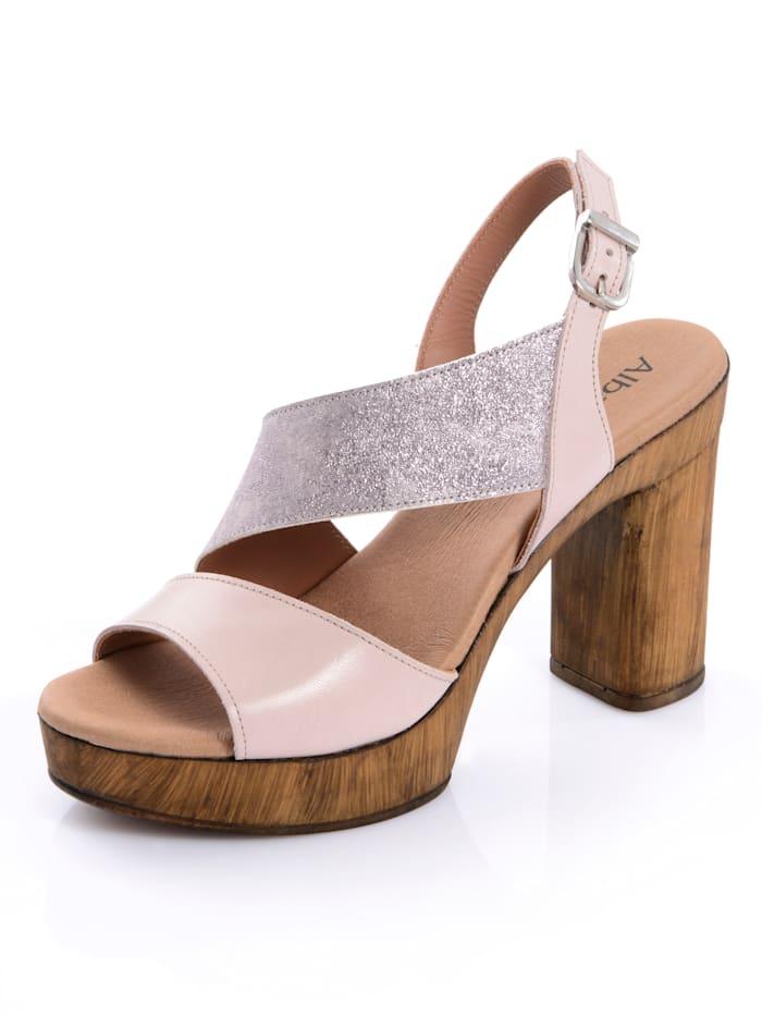 Alba Moda Sandalette im Optikenmix, Nude