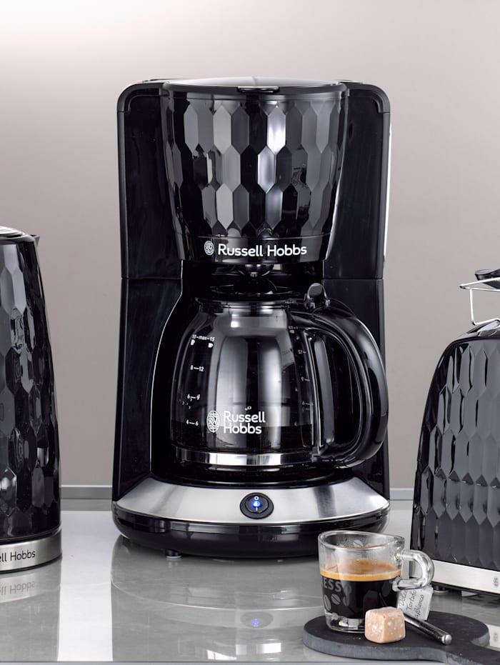 Russell Hobbs Kaffebryggare med glaskanna – Honeycomb, Svart