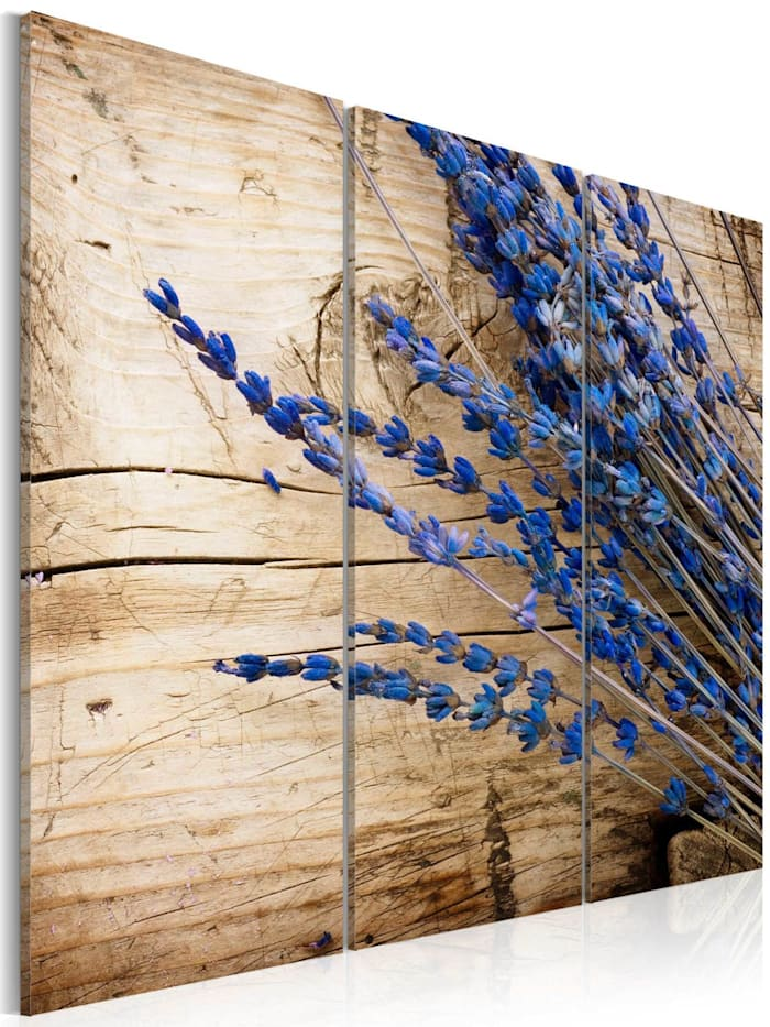 artgeist Wandbild Lavendel, Beige,Blau