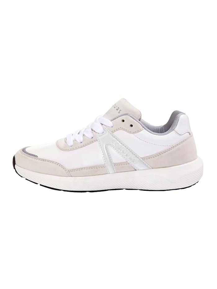 Sneaker met drie-componenten-tussenzool