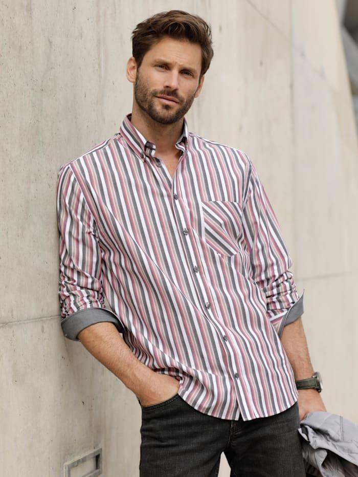 BABISTA Hemd aus reiner Baumwolle, Grau/Rosé