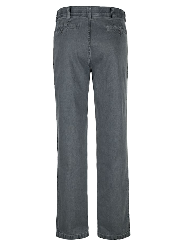 Swing-Pocket Jeans in bügelfreier Qualität