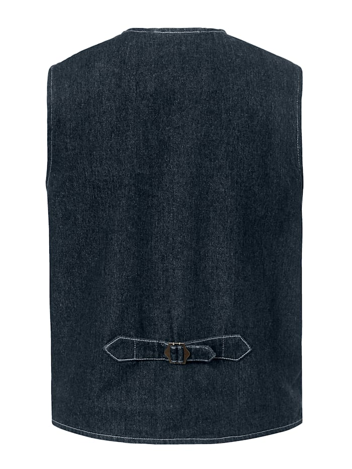 Jeansweste mit herausziehbarem Einstecktuch