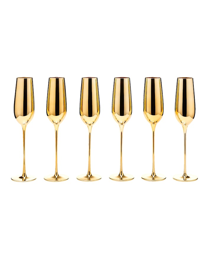 IMPRESSIONEN living Glas-Set, 6-tlg., goldfarben