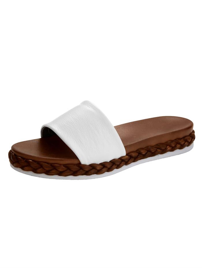 Nazouvací obuv z jakostní kozí nappa kůže, Bílá