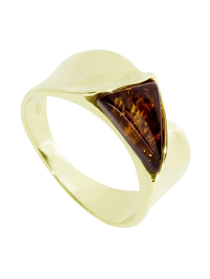 OSTSEE-SCHMUCK Ring - Alisca - Gold 333/000 - Bernstein, gold