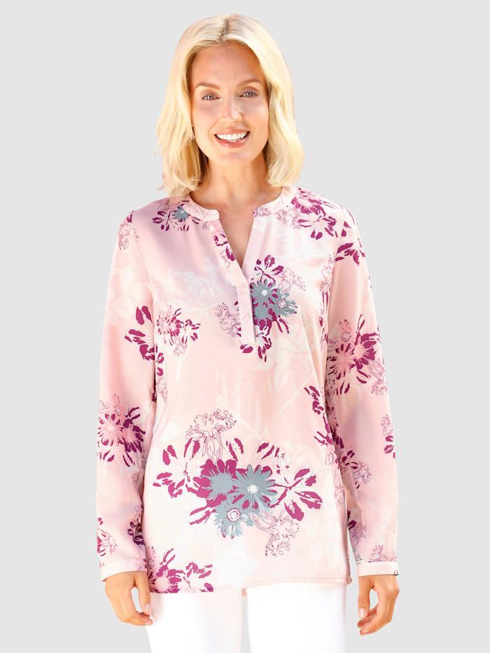 Paola Tunika s květinovým vzorem, Světle růžová/Růžové dřevo