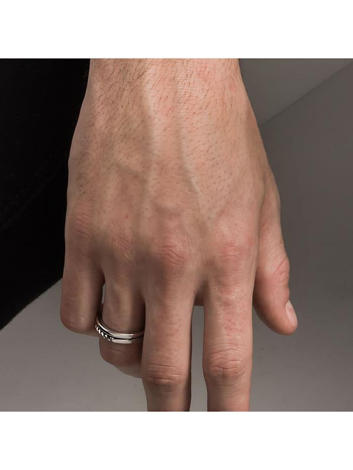 Ring 925/- Sterling Silber ohne Stein Rhod/schwarz 925/- Sterling Silber