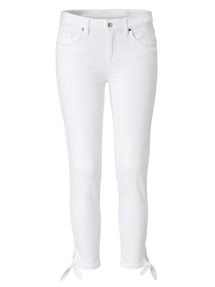Jeans Como Cropped Mit Schleife am Beinabschluss