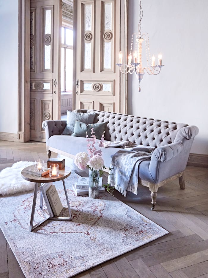 MARAVILLA Sofa, 3-Sitzer, grau/natur