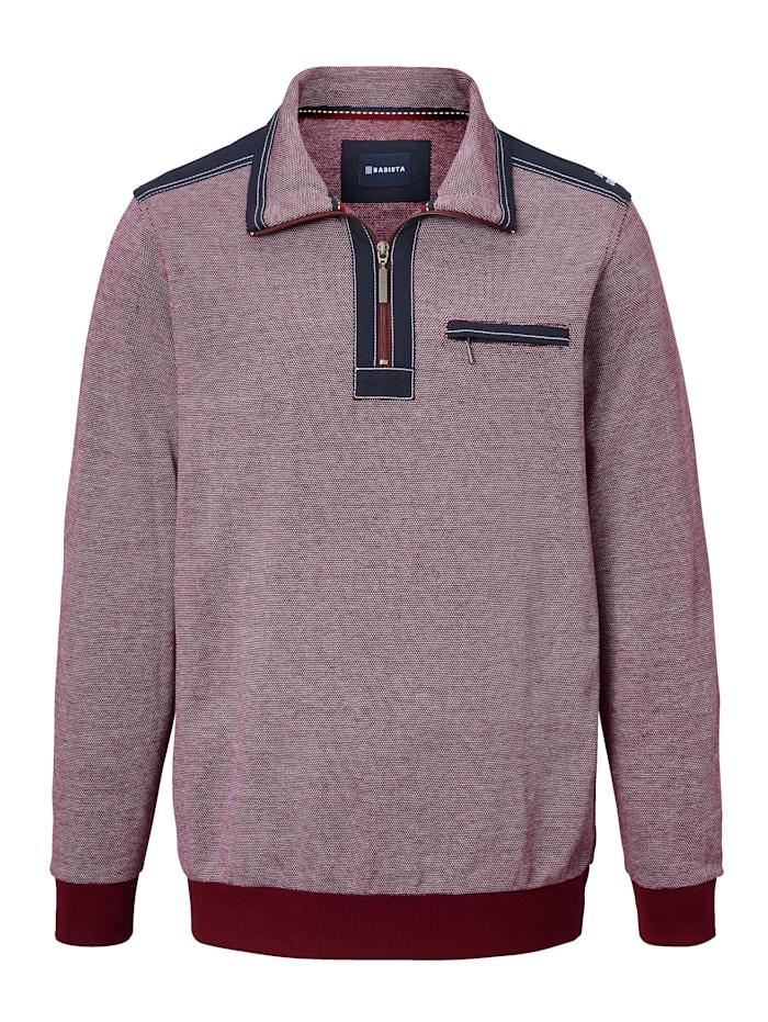 Sweatshirt in tweekleurige gerstekorrellook