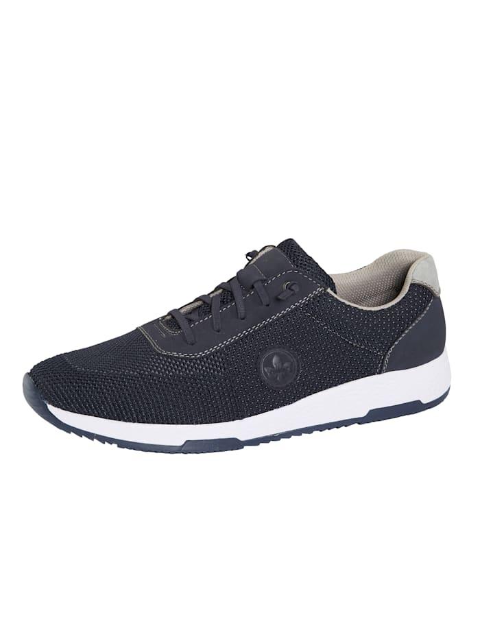 Rieker Sneakers avec laçage extensible sur le cou-de-pied, Marine/Gris