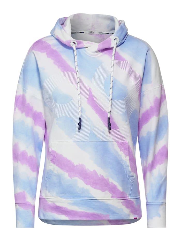 Cecil Sweatshirt mit Tie Dye, soft violet