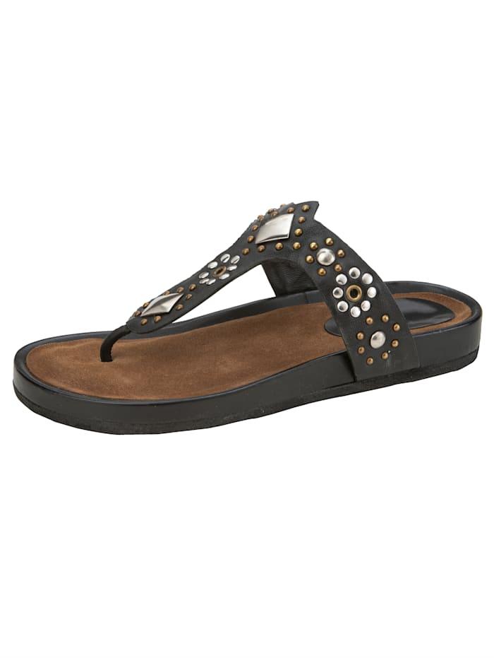 Liva Loop Nazouvací obuv s aplikacemi nýtů, Černá