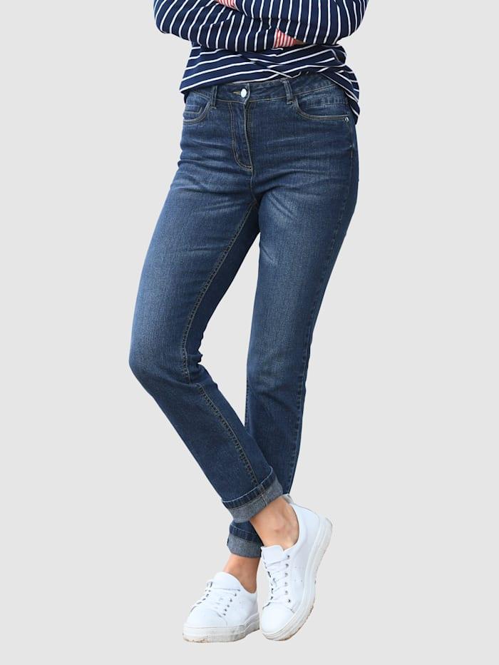 basically you Jeans Sabine Slim, Blau