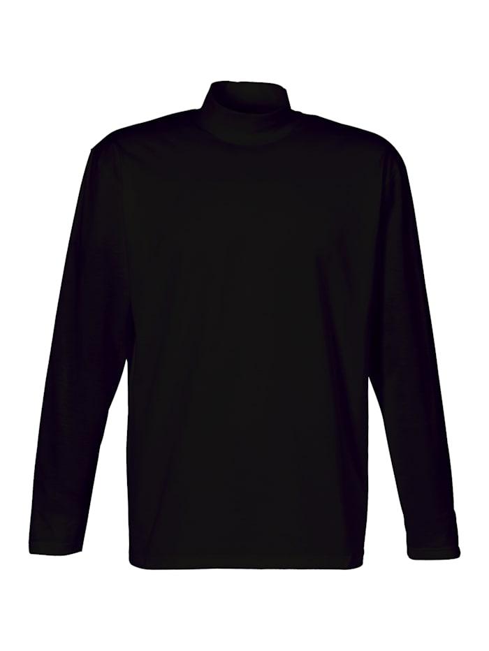 Herren Langarm Shirt mit Stehkragen