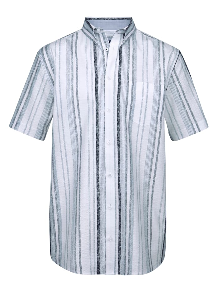 Seersuckerhemd aus reiner Baumwolle