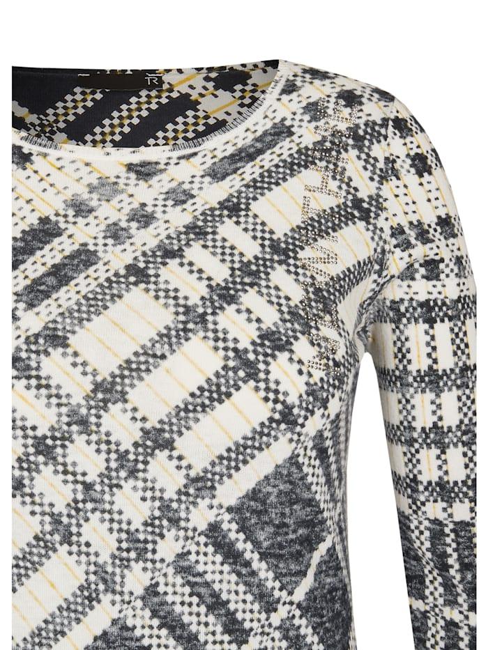 Pullover mit Karo-Muster in monochromem Look
