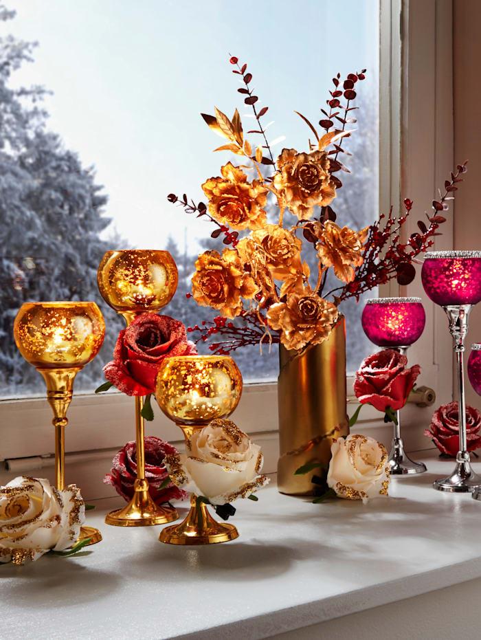 Rosarrangemang, guldfärgad