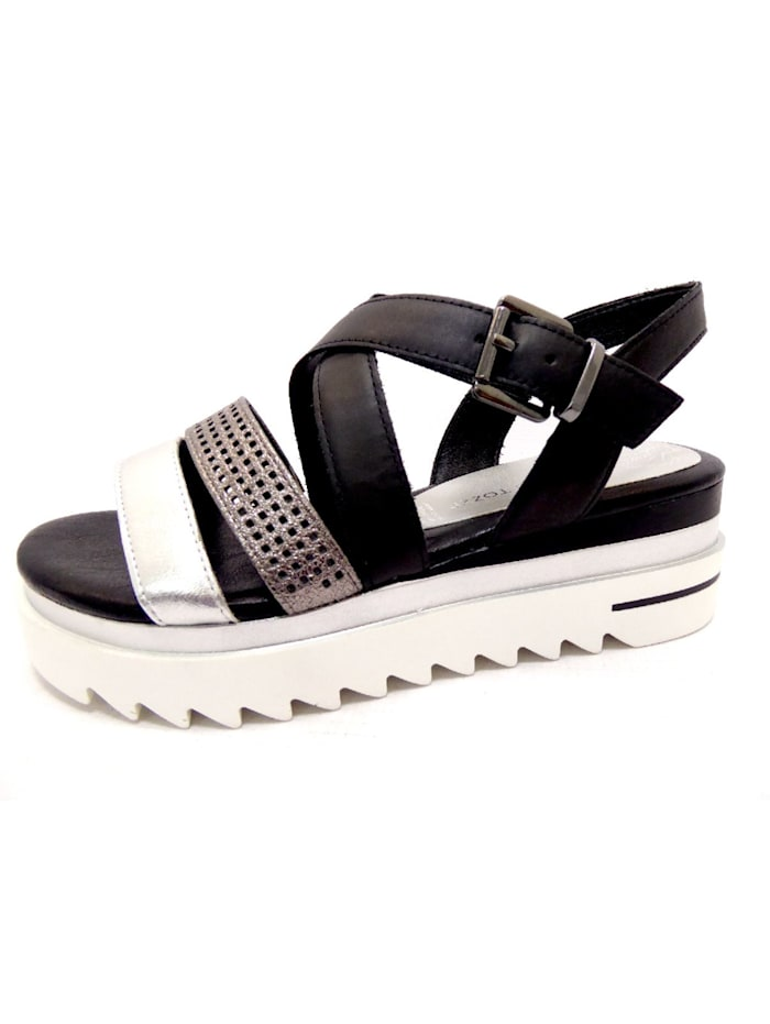 Marco Tozzi Sandalen/Sandaletten, schwarz