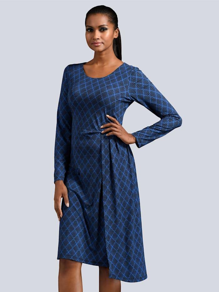 Kleid in farbharmonischem Druck
