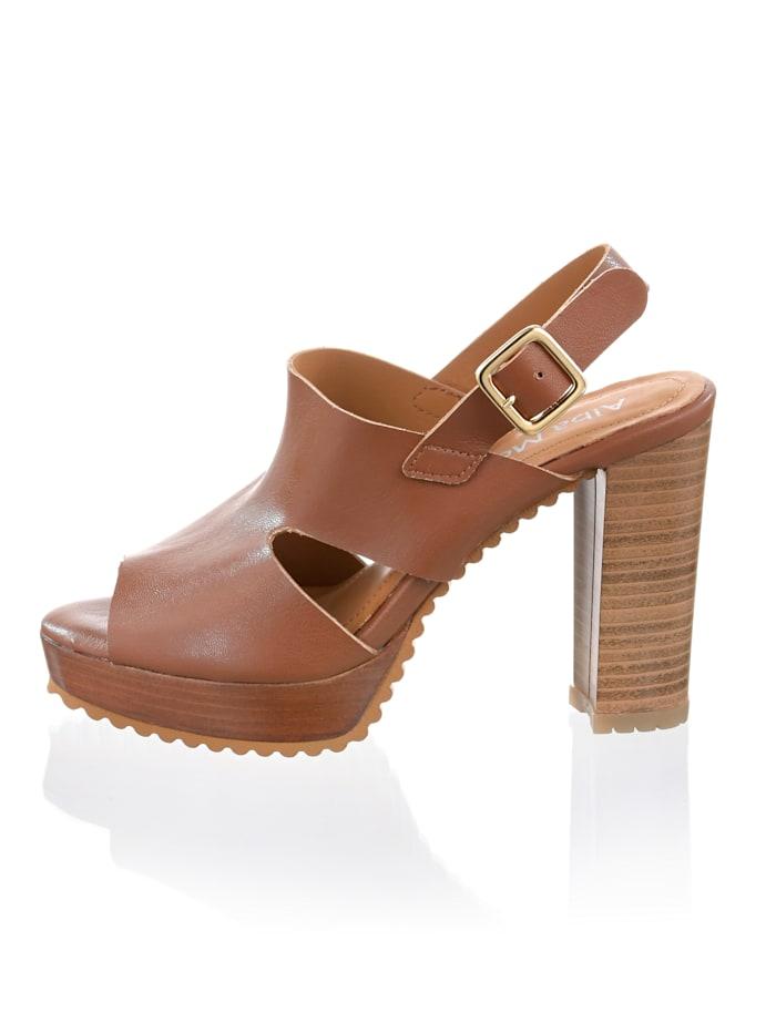 Sandaletter av mikrofiber-material