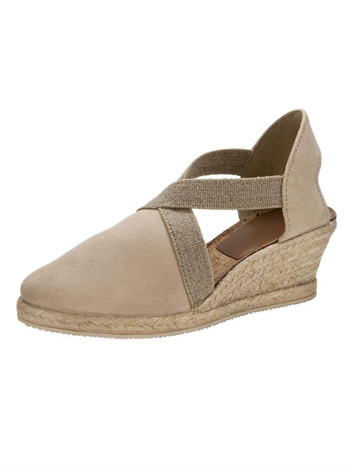 Sandaaltje met elastische riempjes, Zand