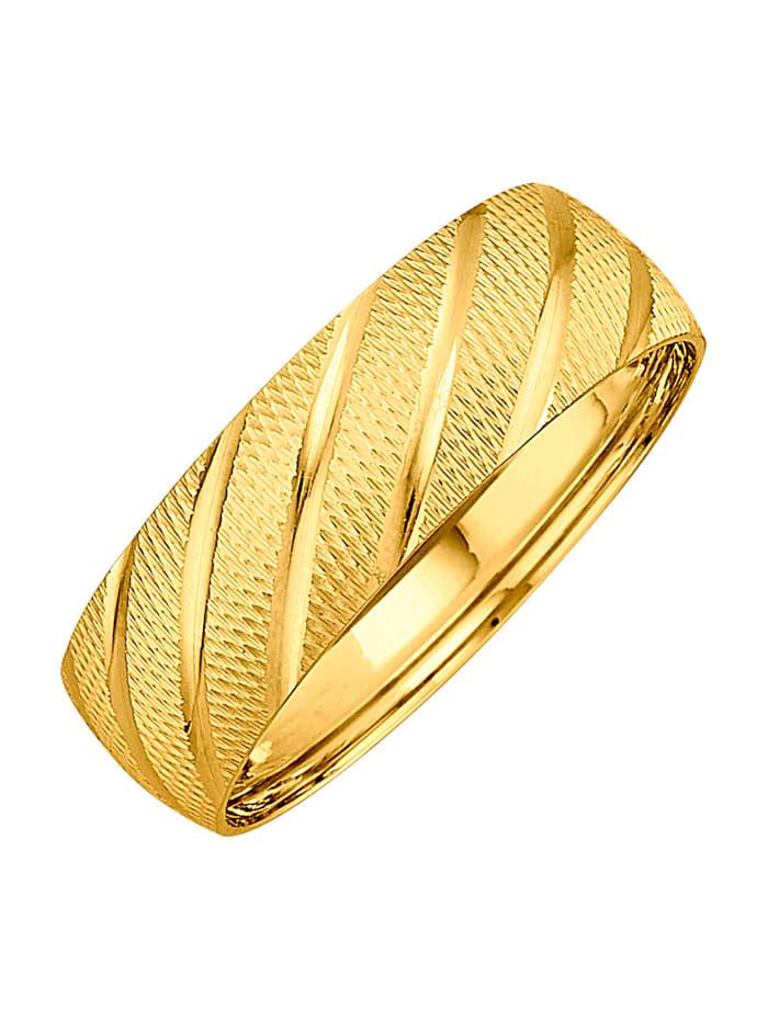 Damenring in Gelbgold 585, Gelbgoldfarben