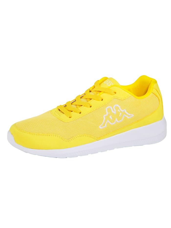 Kappa Sneaker in meshlook, Geel
