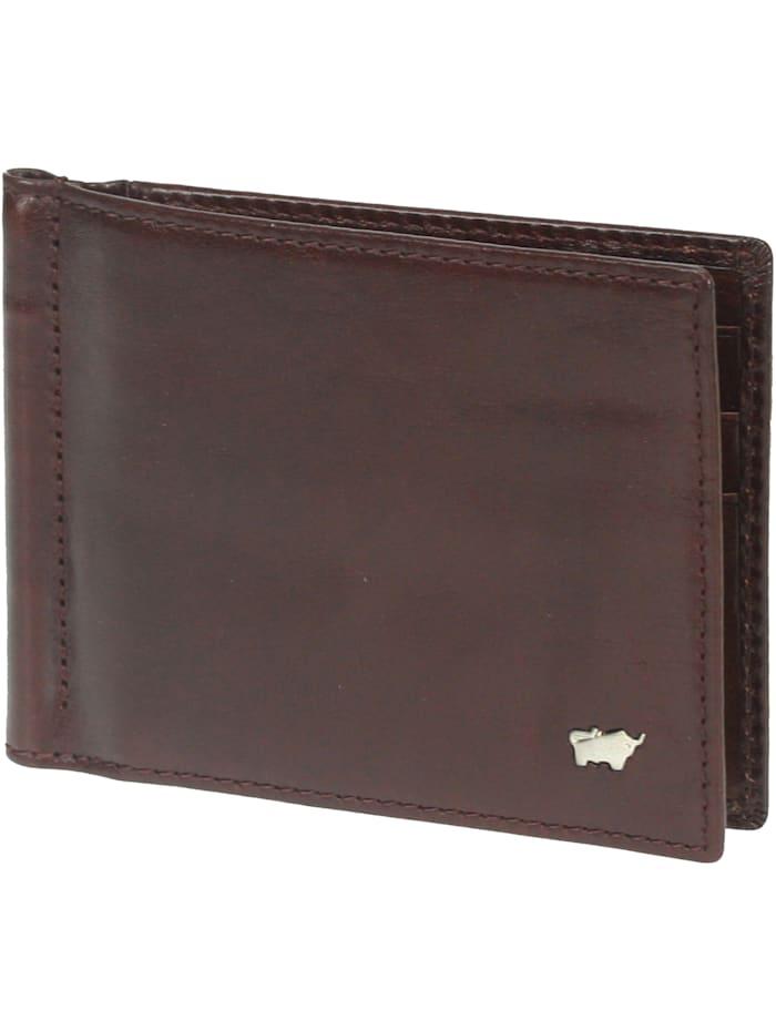 Braun Büffel Basic Dollarclipbörse II Leder 12 cm, palisandro