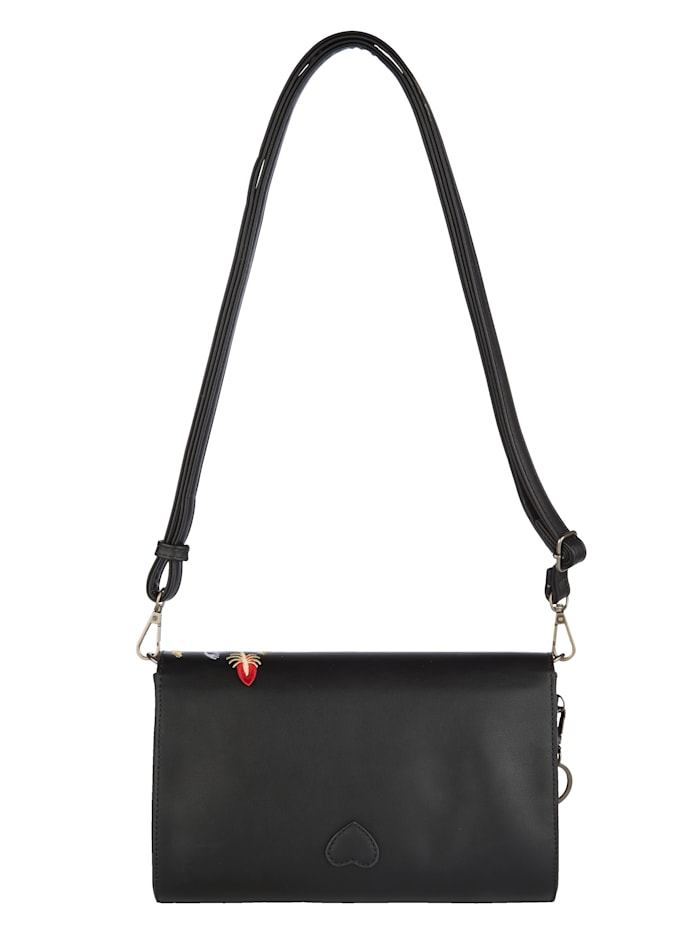 Handväska med blombroderi