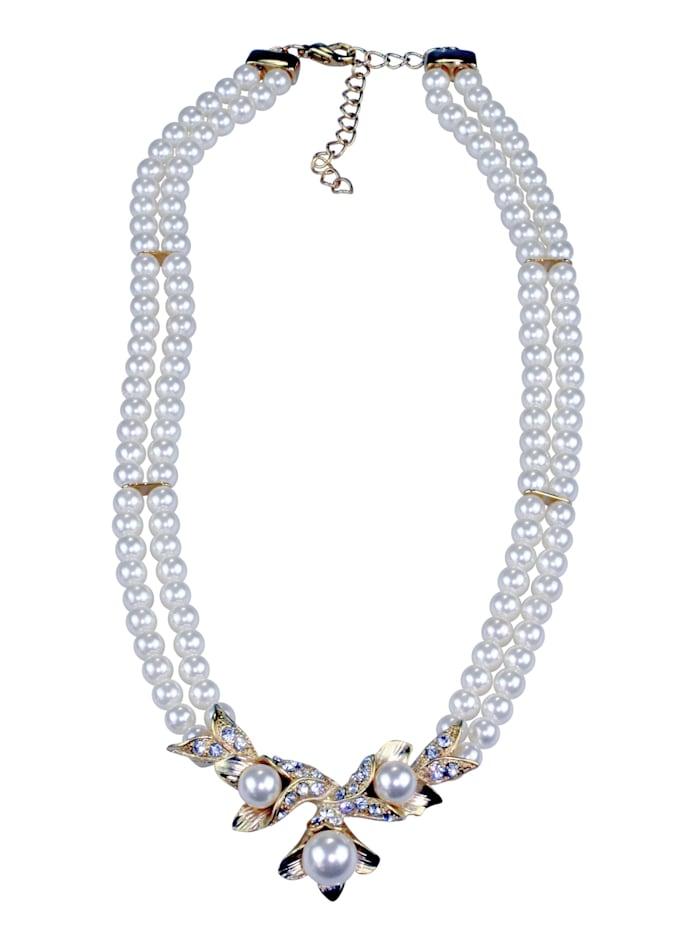 Collezione Alessandro Kurze Kette Tara mit vielen Perlen, gold