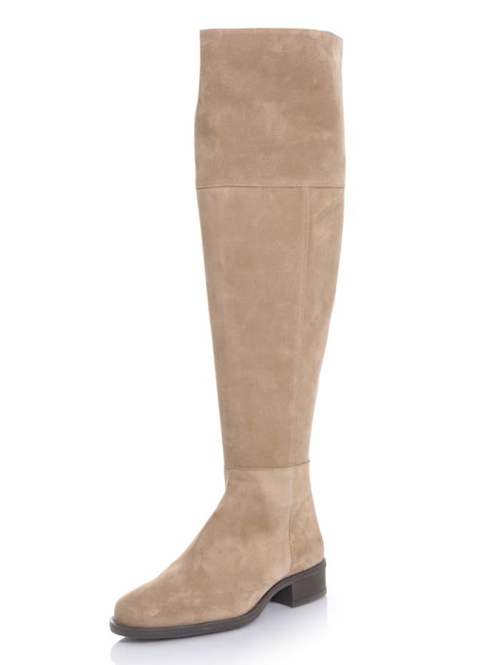 Alba Moda Overknee-Stiefel in sportiver Form, Taupe