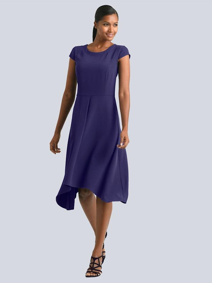 Alba Moda Kleid mit zipfeligem Saum, Lila