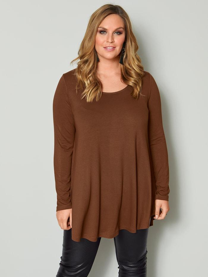 Sara Lindholm Shirt in A-Shape, Cognac