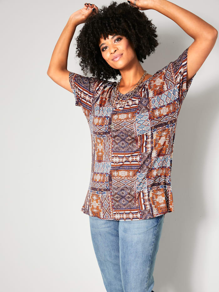 Angel of Style Shirt perfekt zur Jeans kombinierbar, Multicolor