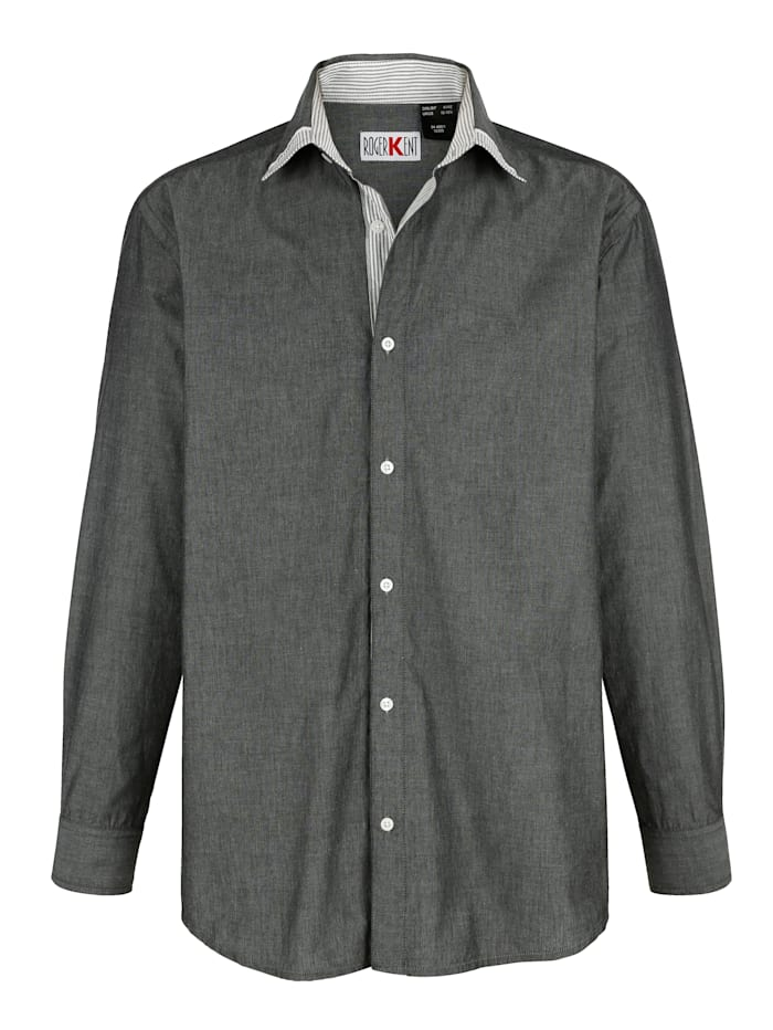 Roger Kent Overhemd met verstelbare manchetten, Grijs
