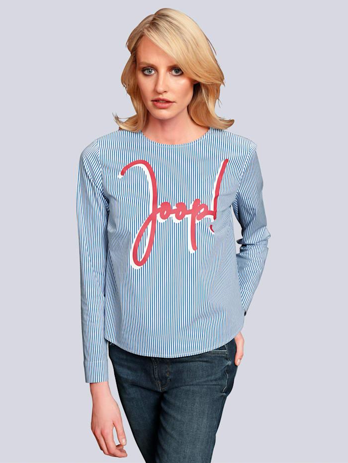 JOOP! Bluse im schönen Streifendessin, Blau