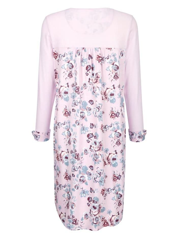 Nachthemd mit floral bedrucktem Rücken