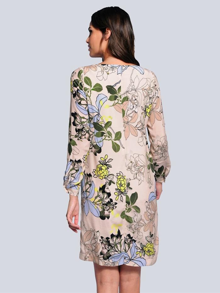 Klänning med blommönster