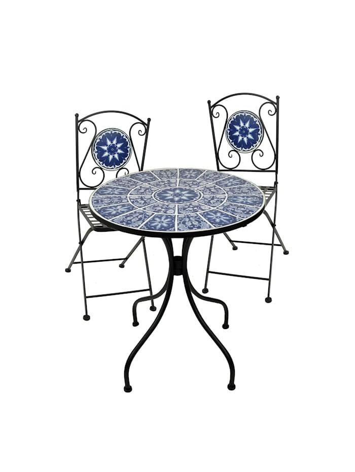 Metalltisch mit 2 Stühlen Marokko