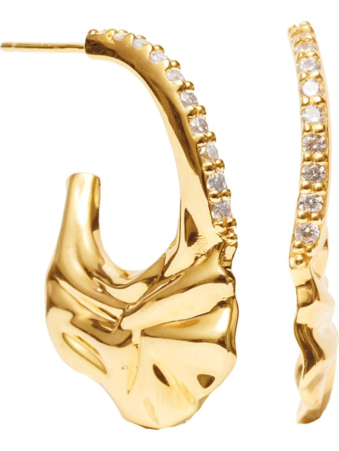 Sif Jakobs Sif Jakobs Jewellery Damen-Ohrhänger 925er Silber Zirkonia, Gelbgold