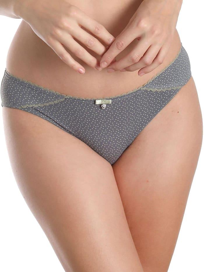 sassa Damen Slip in Bikiniform; angenehme Mikrofaser; trägt unter der Kleidung nicht auf;, dusty Grey